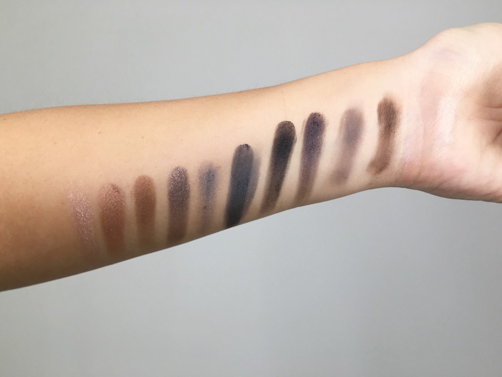 Urban Decay Naked Smokey Eyeshadow Palette Swatches