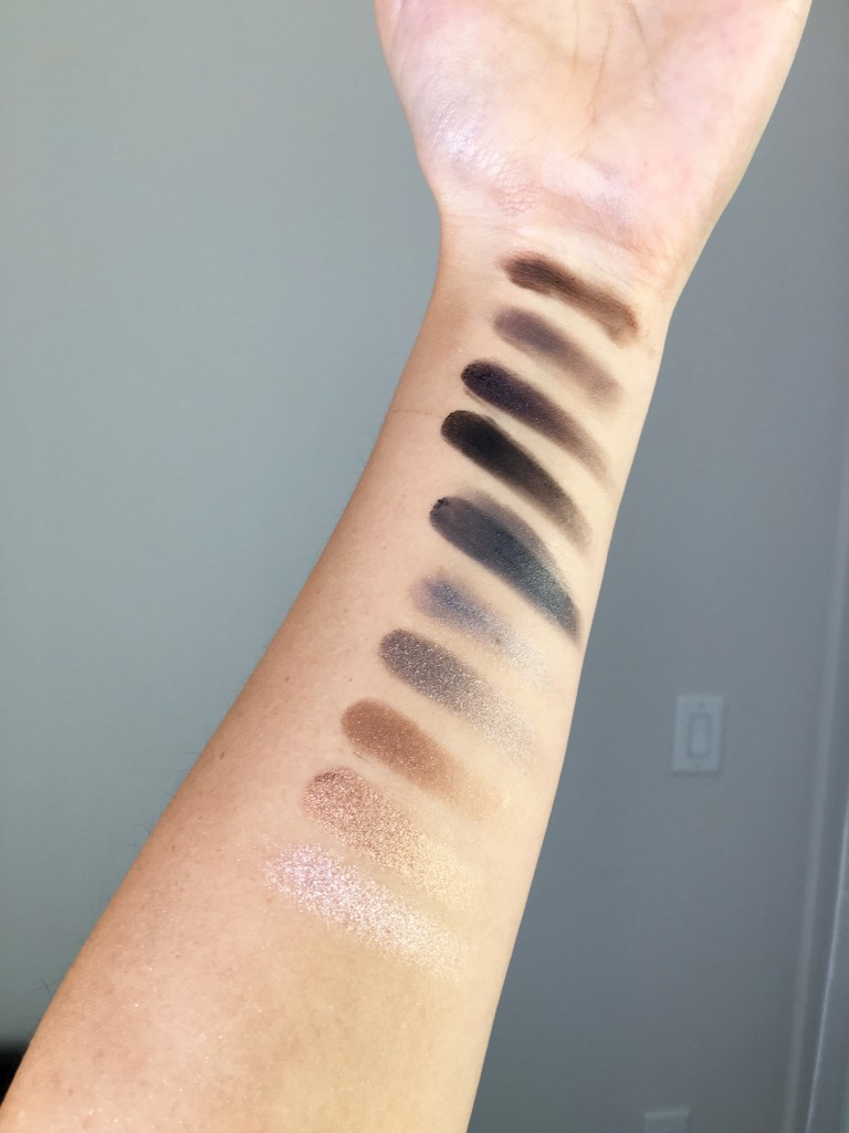 Urban Decay Smokey Eyeshadow swatches