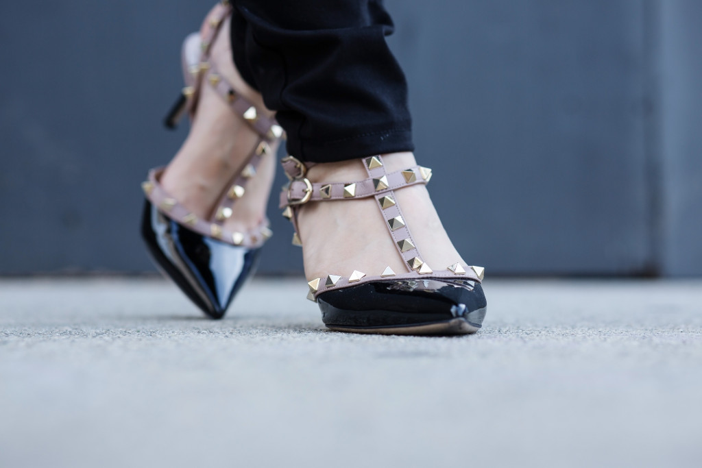 serein-wu-valentino rockstud patent leather heels