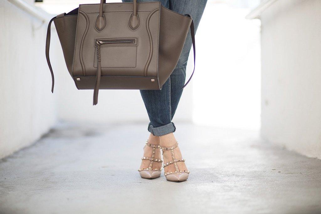 celine phantom valentino rockstud patent leather heels