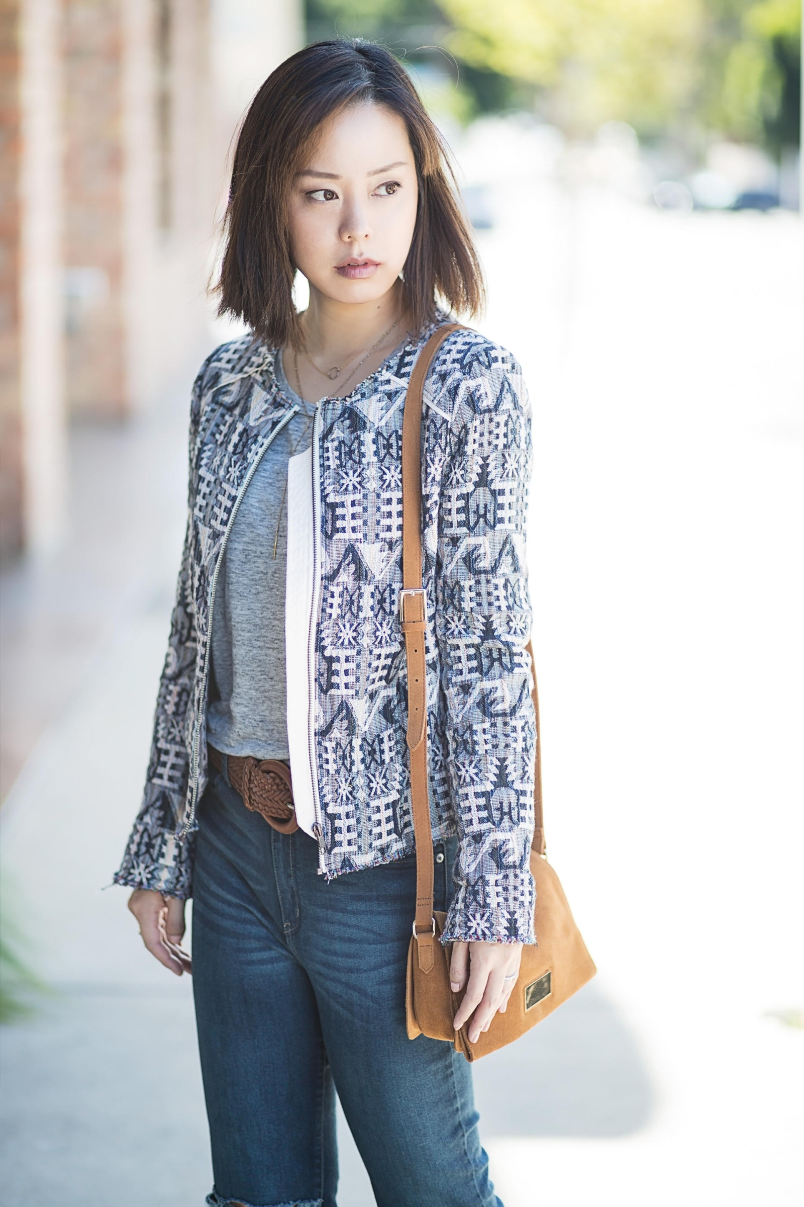 tweed jacket serein wu