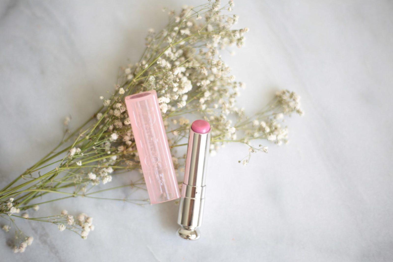 Dior addict lip glow lilac minimal makeup