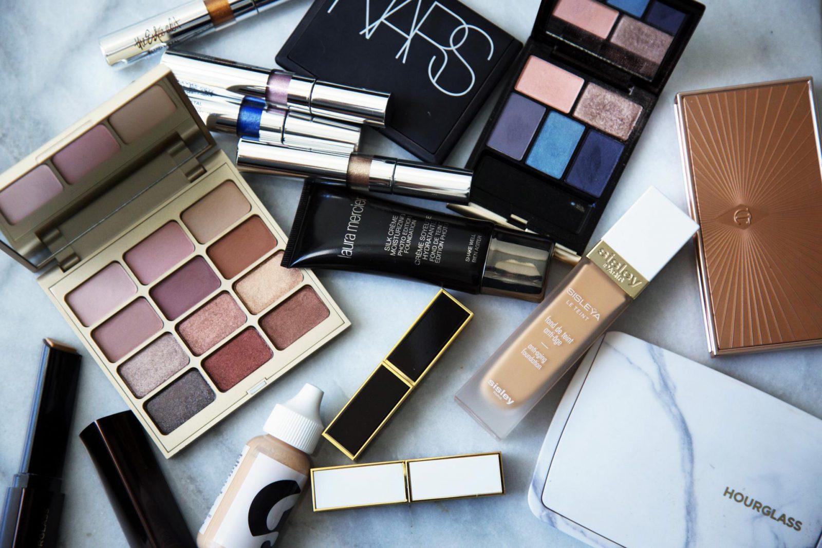makeup shelf life flatlay