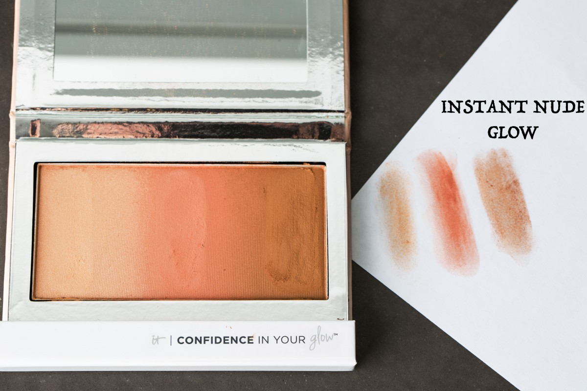 IT Cosmetics Confidence In Your Glow Instant Nude Glow Makeup Bag Monday 39