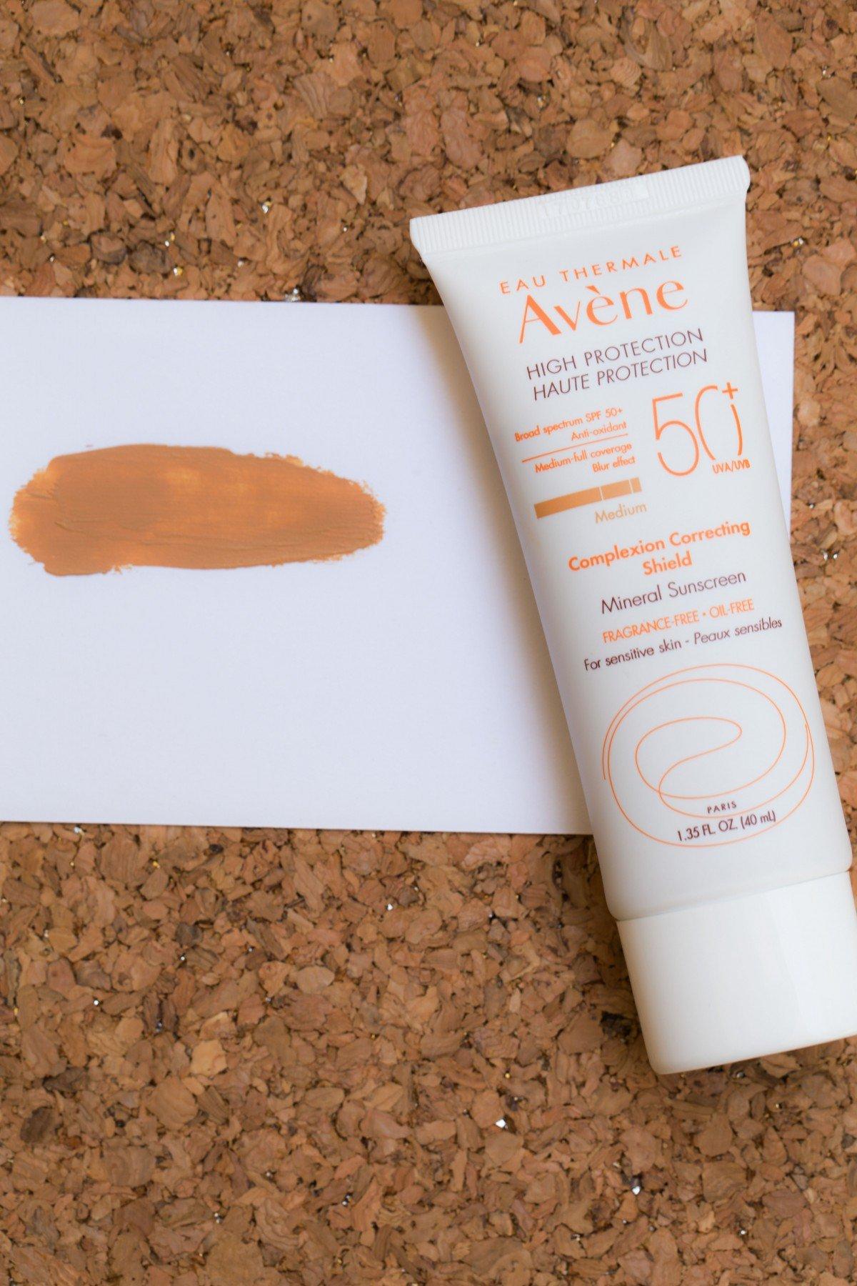 Avene high protection complexion correcting shield makeup bag monday 48 failed makeup