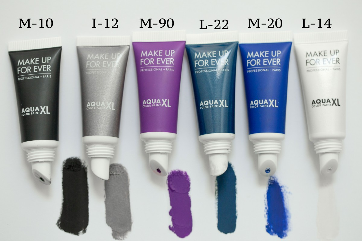 Make Up For Ever Aqua XL Color Paint swatches