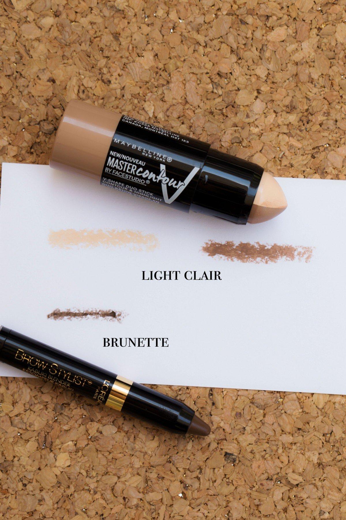 maybelline master contour l'oreal brow kabuki swatches makeup bag monday 48 failed makeup