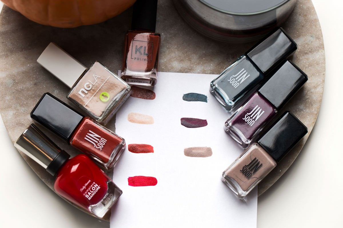 fall inspired nail polish swatches
