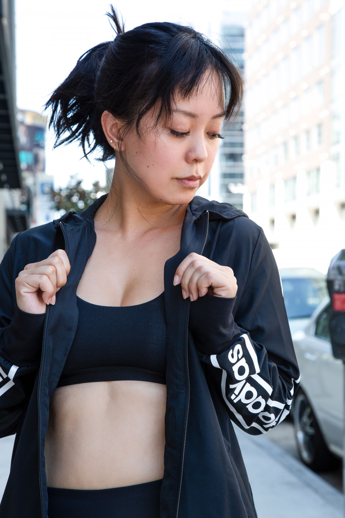 street style 2019 how to layer for fall adidas Serein Wu