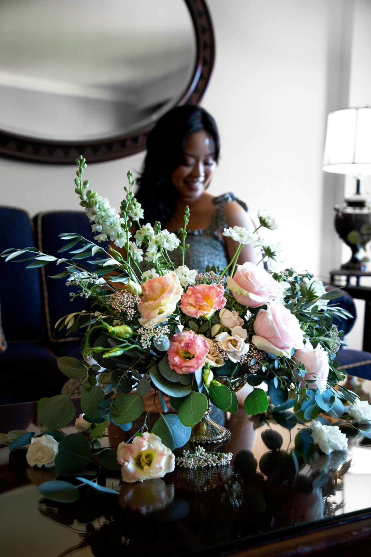 covid baby shower flowers by Alicia Serein Wu